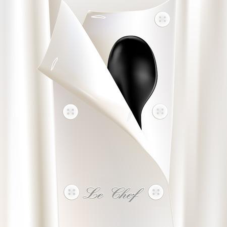 Restaurant-Menü oder die Broschüre mit weißen und schwarzen Küchenchef einheitliche Löffel Standard-Bild - 4902957