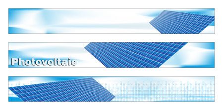 Web banner, tarjetas de visita, etiquetas o las insignias para el proyecto de energía verde Foto de archivo - 4973677