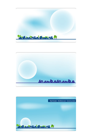 Business card for real estate, architecture, construction business - Labels useful Stock Vector - 5044027