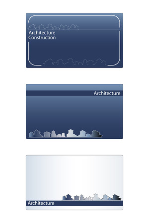 commercial real estate: Business card for real estate, architecture, construction business - Labels useful Illustration