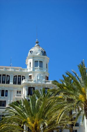 spanish style: Alicante, Spain -  Historic building, Spanish style Stock Photo