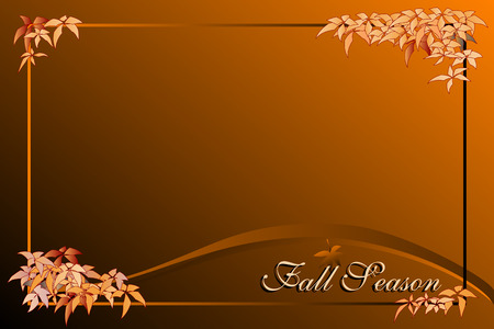 Fall season background with frame - Autumn colors Stock Vector - 5428872