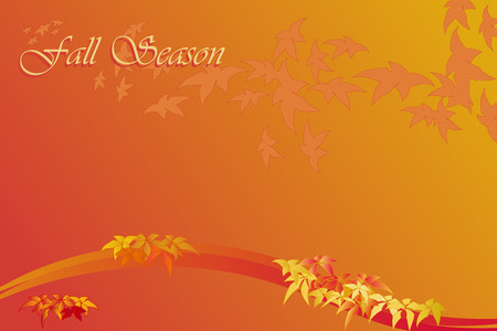 Fall season background with frame - Autumn colors Stock Vector - 5450217