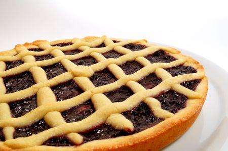 Raspberry jam tart, italian homemade crostata photo