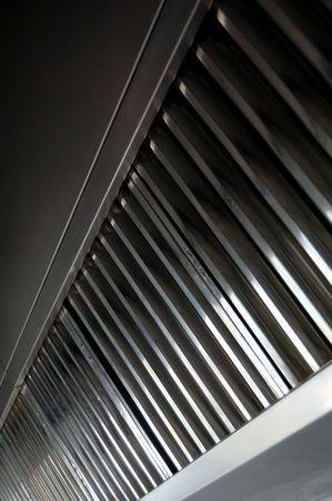 Escape, filtros de capó de detalle en una cocina profesional  Foto de archivo - 6323342