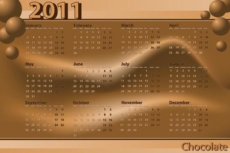 2011 Calendar chocolate theme - Abstract background Vector