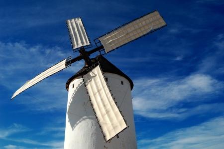 don quixote: Spain, windmill in Alcazar de San Juan, the giant of Quixote novel