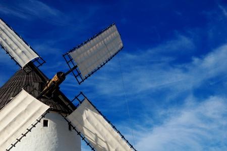 san juan: Spain, detail of windmill in Alcazar de San Juan, the giant of Quixote novel