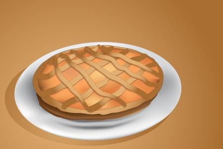 Jam tart, italian homemade crostata Vector