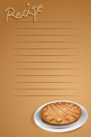 bułka maślana: Strona przepis z A, tarte brązowym tle