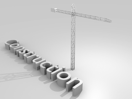 Construction concept image with a crane photo
