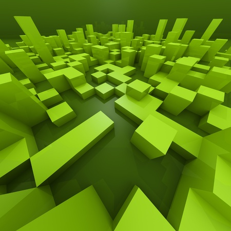 Abstract background with 3d cubes Stock Photo - 12819544