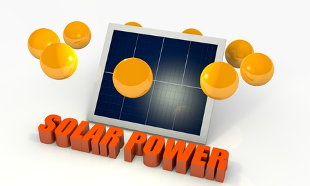 photovoltaic: Solar energy image with photovoltaic panel Stock Photo