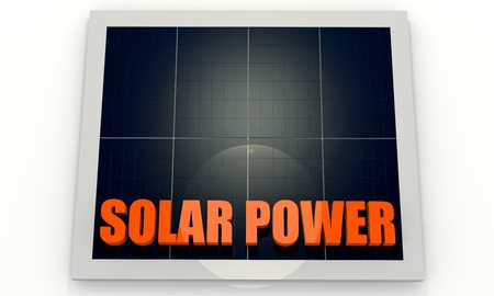 Solar energy image with photovoltaic panel photo