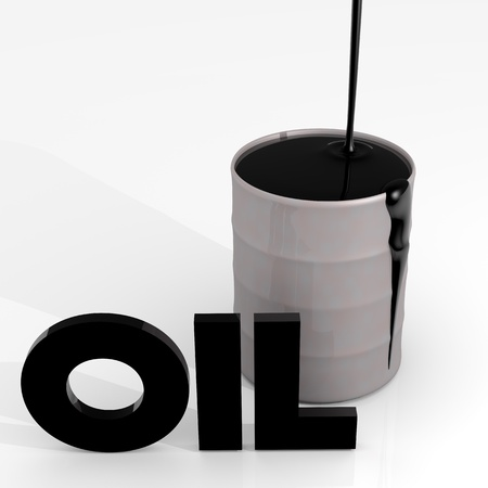 Power, energy and fuel industry image  oil barrel Stock Photo - 13375100