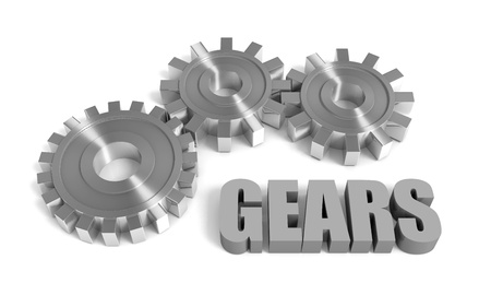 Industry concept image with gears Stock Photo - 14088532