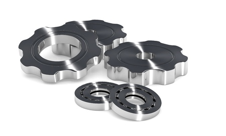 Industry concept image with gears and ball bearings Stock Photo - 14088533