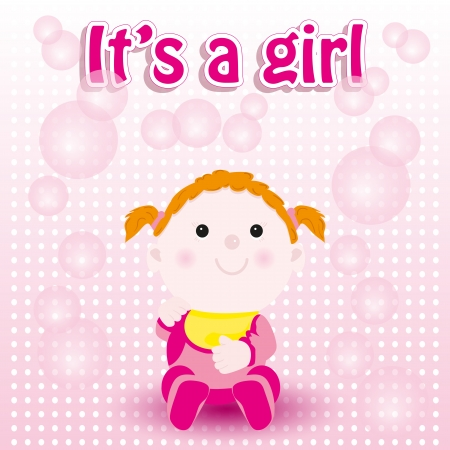 special occasion: Baby shower card, girl birth