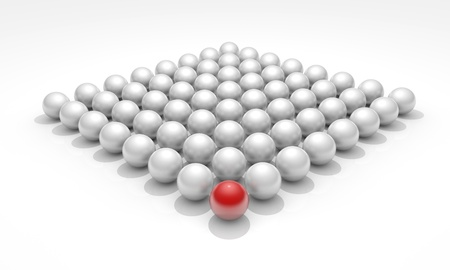 Conceptual image with spheres, teamwork Stock Photo - 14235687