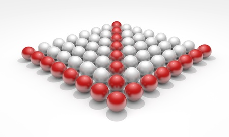 Conceptual image with spheres, teamwork Foto de archivo