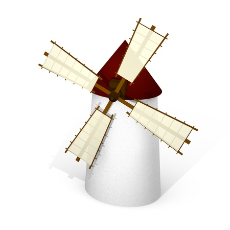don quijote: Molino de viento español tradicional Foto de archivo