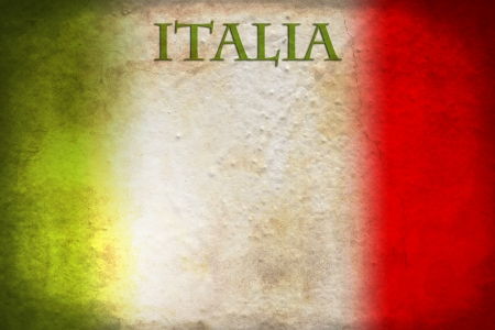 bandiera italiana: Tradizionale bandiera italiana su sfondo grunge