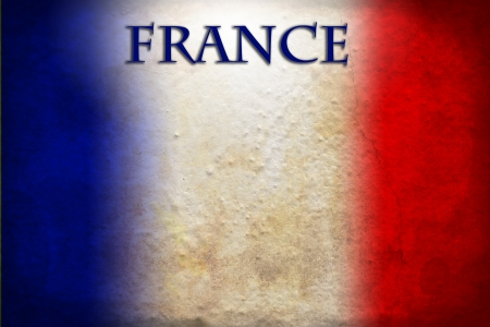 Textured french flag photo