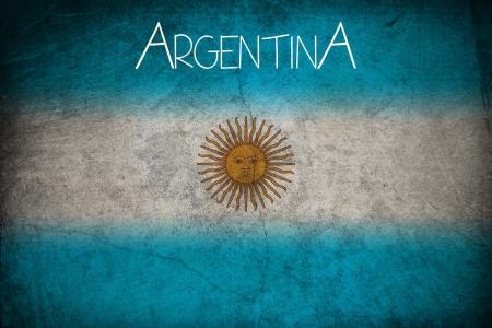 Argentine flag, grunge style Stock Photo - 15866351