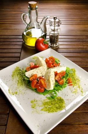 Caprese salad, italian appetizer with mozzarella and tomatoes Stock Photo - 16733566