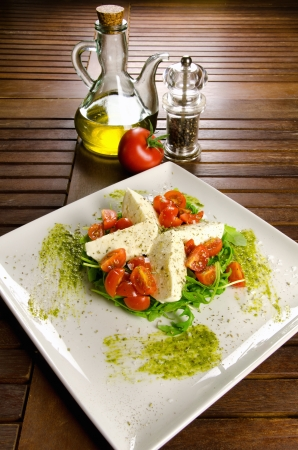 Caprese salad, italian appetizer with mozzarella and tomatoes Stock Photo - 16733566