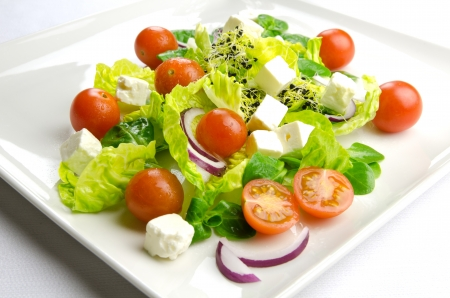 weight loss plan: Diet time, fresh salad for a healthy lifestyle Stock Photo