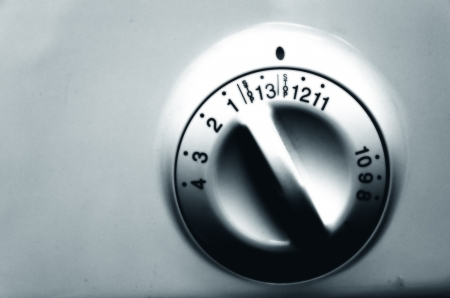 Detail of washing machine program knob photo