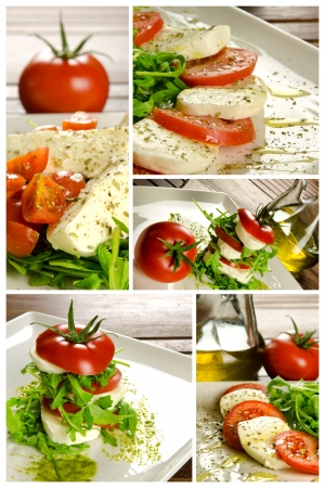 Traditional Italian appetizer, caprese salad photo
