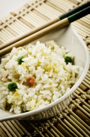 Yangzhou rice, traditional chinese recipe, cantonese food photo