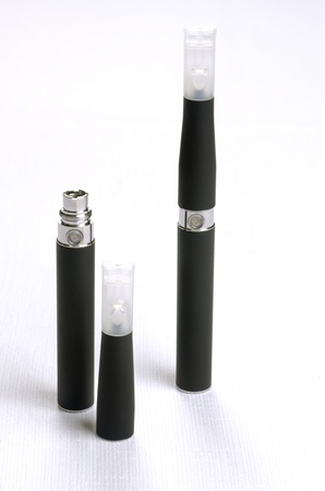 background e cigarette: Electronic cigarette, detail and components  E-cigarette business Stock Photo