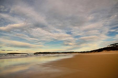 santander: Spanish destination on Atlantic Ocean, Somo beach in Cantabria region Stock Photo