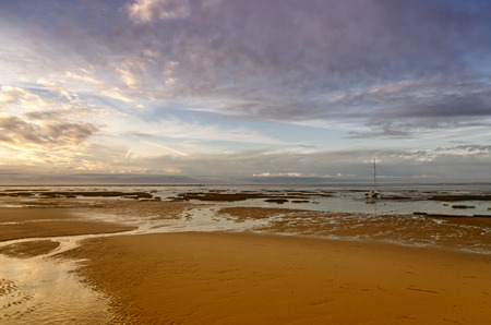 French destination Arcachon Bay and low tide photo