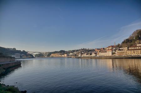 Tourist destination Porto Portugal on the Douro river photo