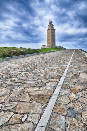 hercules: Spanish destination hercules tower of the oldest lighthouse