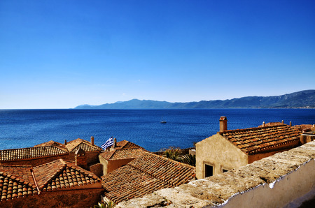 laconia: Greek destination, medieval city of Monemvasia Stock Photo