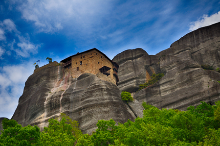 monasteries: Inaccessible monasteries on the cliff in Meteora, Greece