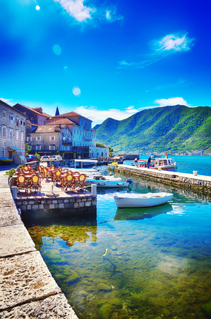 Old town of Perast, Montenegro, tourism destnation
