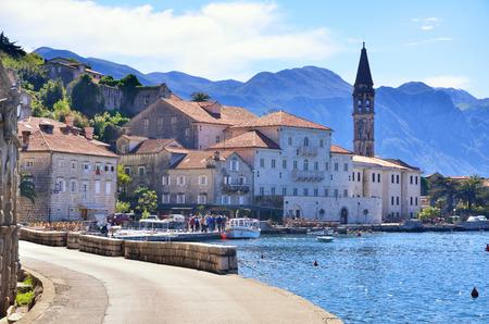 montenegro: Old town of Perast, Montenegro, tourism destnation Stock Photo
