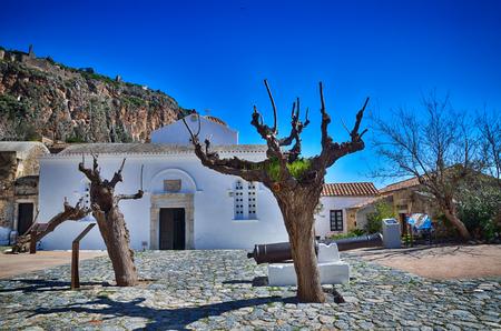 Greek destination, medieval city of Monemvasia Stock Photo