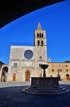 umbria: Bevagna, medieval walled town, Umbria region, Italy Stock Photo