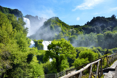 waterfall river: Italian destination, Marmores falls, tallest man-made waterfall in Europe