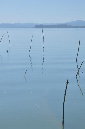 umbria: Italian destination in Umbria region, Lake Trasimeno Stock Photo