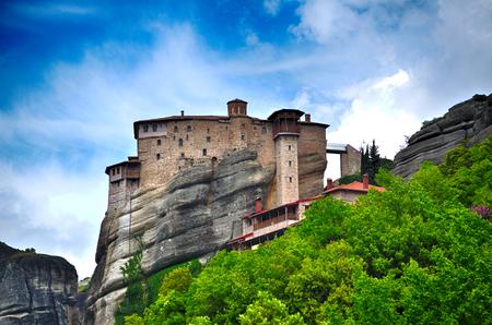 monasteri: monasteri inaccessibili sulla scogliera a Meteora, Grecia Archivio Fotografico