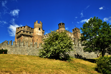 aosta: Castle of Fenis, one of the most famous castles in Aosta Valley