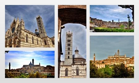 touristic: Touristic destination in Tuscany, Siena, photo collage